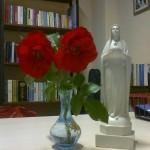 Fiori e libri per Maria